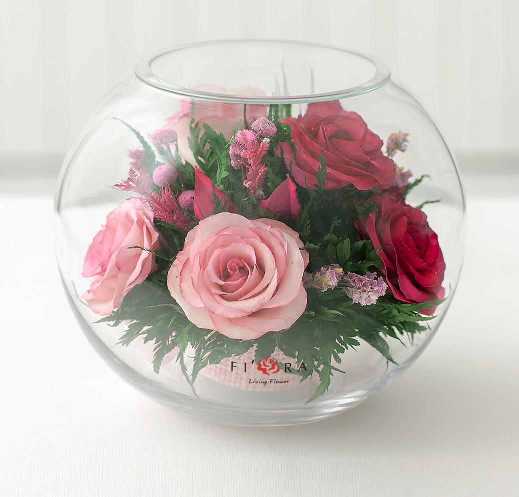 как украсить круглую вазу фото листья