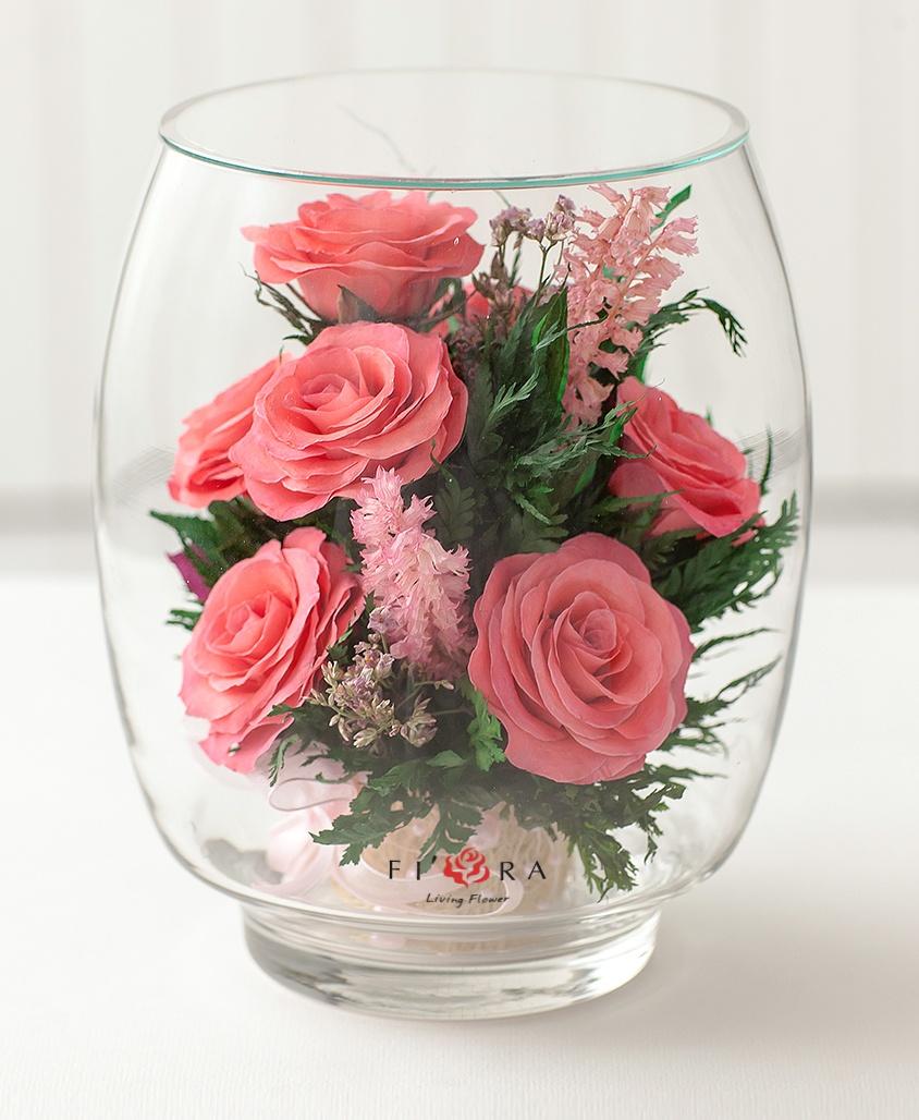Стеклянгный ангел живые цветы подарок мужчине судье