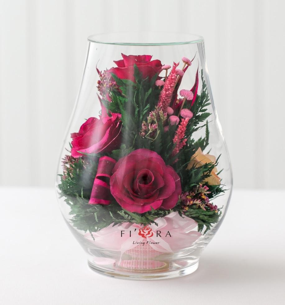 Цветы другом, букет роз невянущий синяк