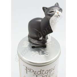 Фигурка кошки My Ped Pals - Black & White Cat (Sitting)