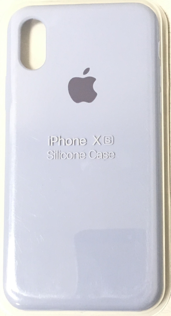 Чехол для Apple iPhone X/XS Silicone Case Голубой